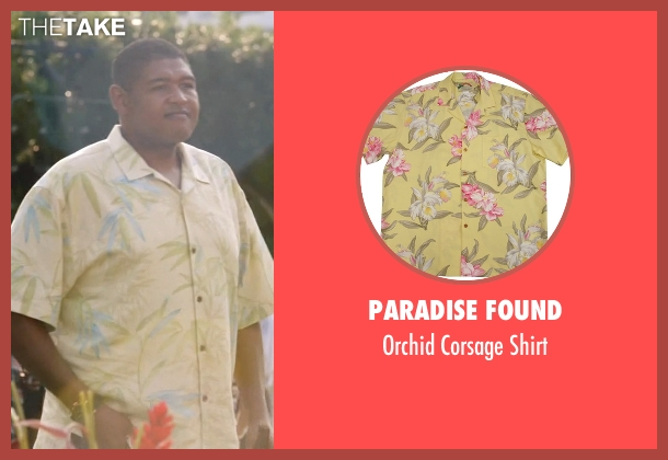 Paradise Found yellow shirt from Ballers seen with Charles Greane (Omar Benson Miller)