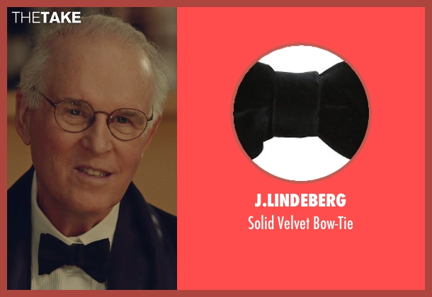 J.Lindeberg black bow-tie from While We're Young seen with Charles Grodin (Leslie)