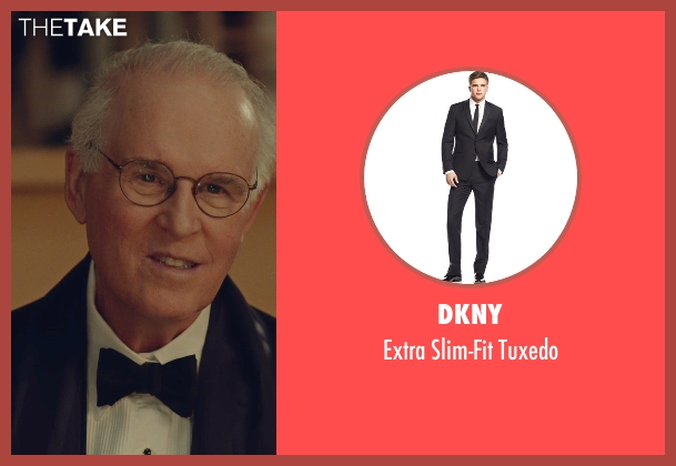 DKNY black tuxedo from While We're Young seen with Charles Grodin (Leslie)