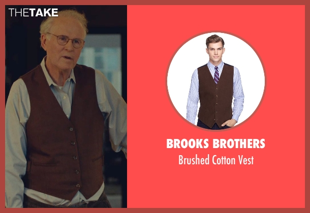 Brooks Brothers brown vest from While We're Young seen with Charles Grodin (Leslie)