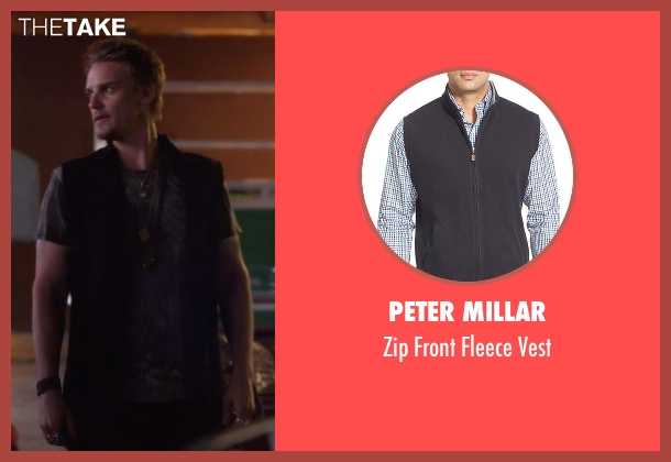 Peter Millar black vest from Nashville seen with Charles Wentworth (Charlie Bewley)