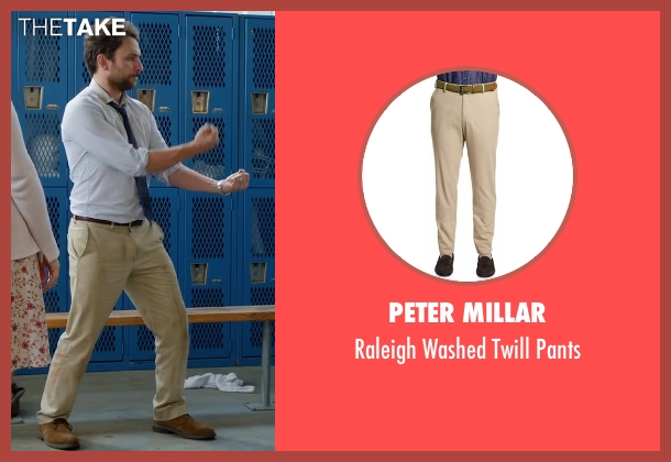 Peter Millar beige pants from Fist Fight seen with Charlie Day (Andy Campbell)