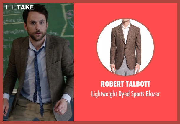 Robert Talbott brown blazer from Fist Fight seen with Charlie Day (Andy Campbell)