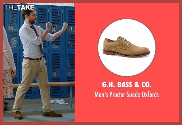 G.H. Bass & Co. brown oxfords from Fist Fight seen with Charlie Day (Andy Campbell)