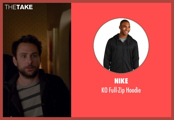 Nike black hoodie from Horrible Bosses 2 seen with Charlie Day (Dale Arbus)