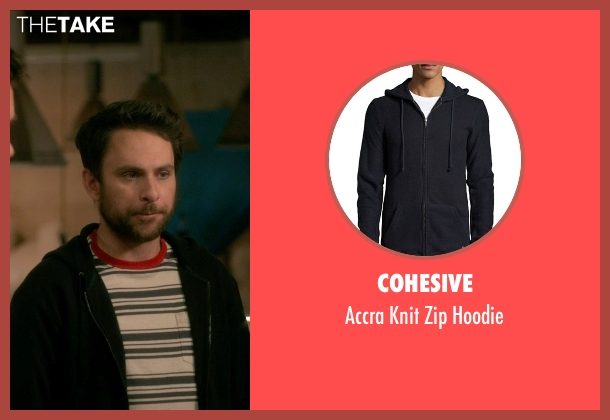 Cohesive black hoodie from Horrible Bosses 2 seen with Charlie Day (Dale Arbus)