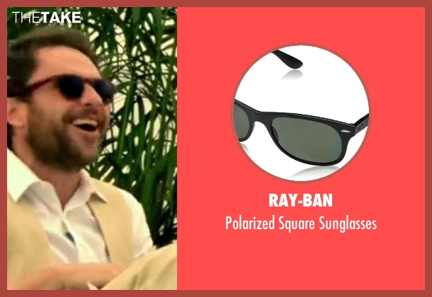 Ray-Ban black sunglasses from Horrible Bosses 2 seen with Charlie Day (Dale Arbus)