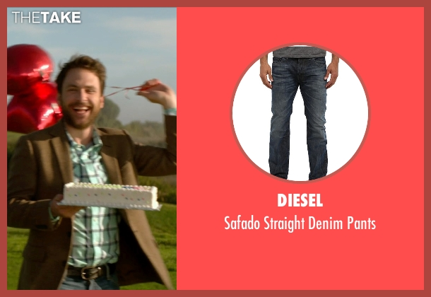 Diesel blue pants from Horrible Bosses 2 seen with Charlie Day (Dale Arbus)