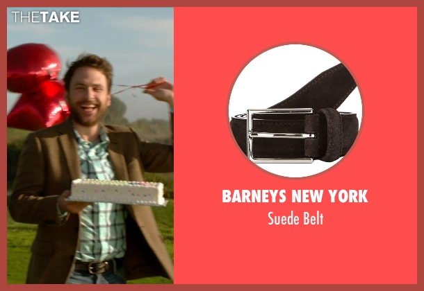 Barneys New York brown belt from Horrible Bosses 2 seen with Charlie Day (Dale Arbus)