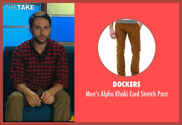 Dockers brown pant from Horrible Bosses 2 seen with Charlie Day (Dale Arbus)
