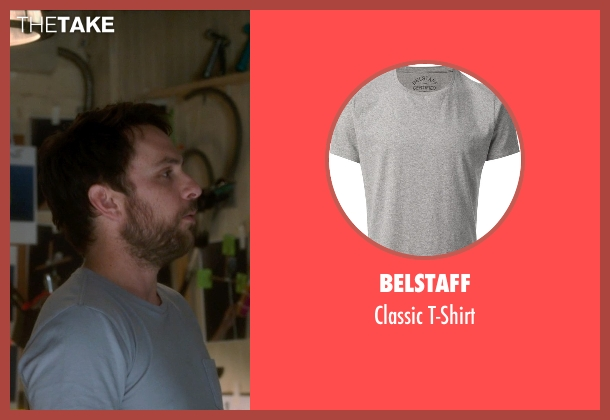 Belstaff gray t-shirt from Horrible Bosses 2 seen with Charlie Day (Dale Arbus)