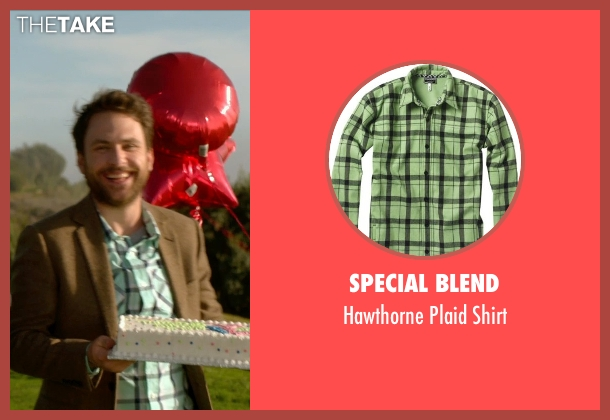 Special Blend green shirt from Horrible Bosses 2 seen with Charlie Day (Dale Arbus)
