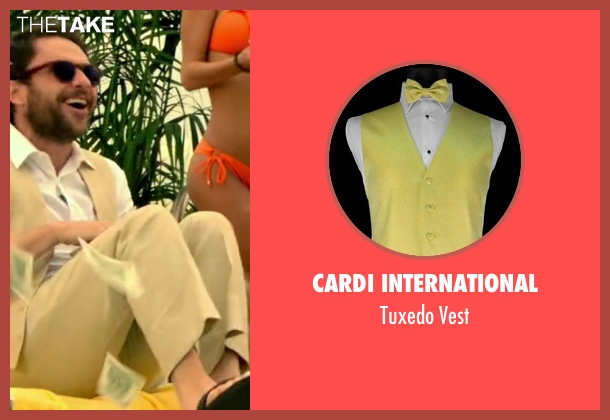 Cardi International vest from Horrible Bosses 2 seen with Charlie Day (Dale Arbus)