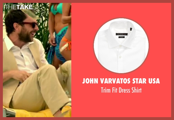 John Varvatos Star USA white shirt from Horrible Bosses 2 seen with Charlie Day (Dale Arbus)