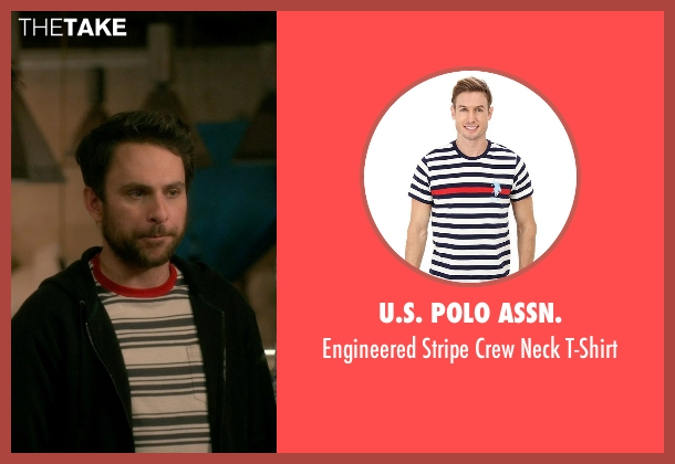 U.S. POLO ASSN. white t-shirt from Horrible Bosses 2 seen with Charlie Day (Dale Arbus)
