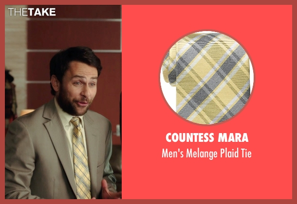 Countess Mara yellow tie from Horrible Bosses 2 seen with Charlie Day (Dale Arbus)