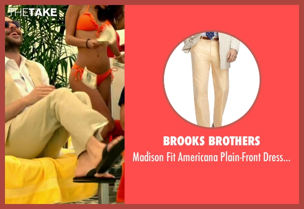 Brooks Brothers yellow trousers from Horrible Bosses 2 seen with Charlie Day (Dale Arbus)