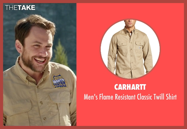 Carhartt beige shirt from Vacation seen with Charlie Day (Unknown Character)