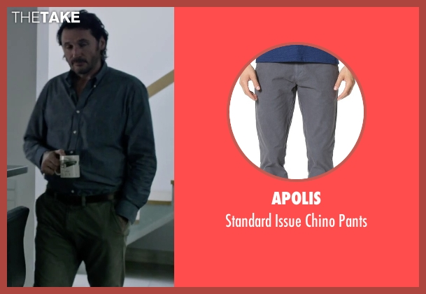 Apolis gray pants from The Martian seen with Charlie Gardner (Robert Lewis)