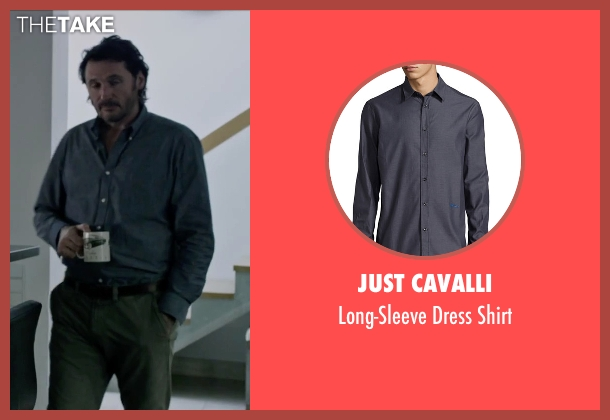 Just Cavalli gray shirt from The Martian seen with Charlie Gardner (Robert Lewis)