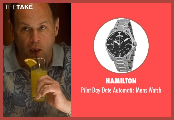 Hamilton silver watch from Crazy, Stupid, Love. seen with Charlie Hartsock (Sad Sack)