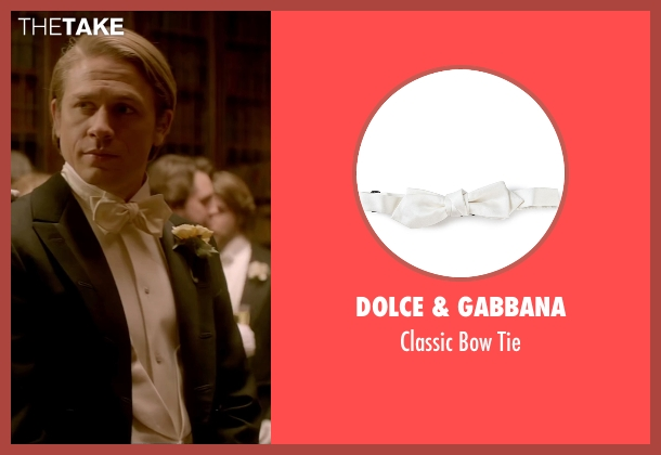 Dolce & Gabbana beige tie from Crimson Peak seen with Charlie Hunnam (Dr. Alan McMichael)