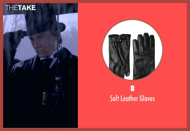 8 black gloves from Crimson Peak seen with Charlie Hunnam (Dr. Alan McMichael)