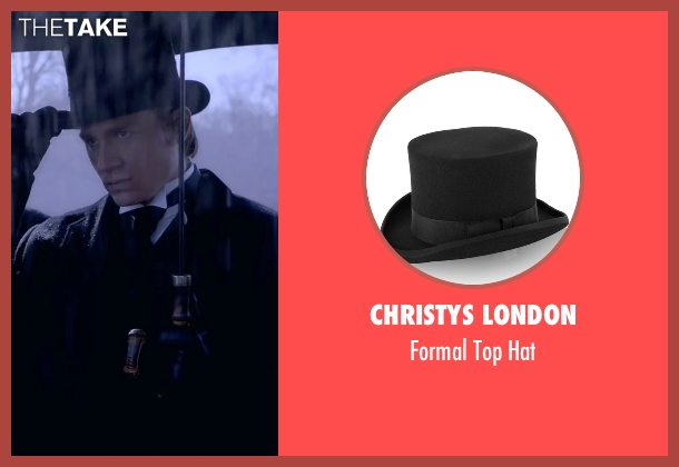 Christys London black hat from Crimson Peak seen with Charlie Hunnam (Dr. Alan McMichael)