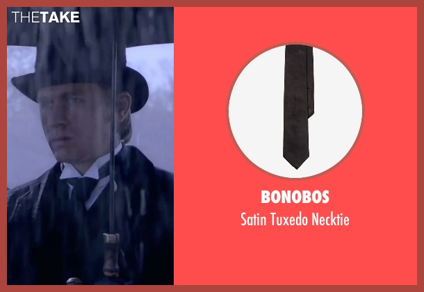 Bonobos black necktie from Crimson Peak seen with Charlie Hunnam (Dr. Alan McMichael)