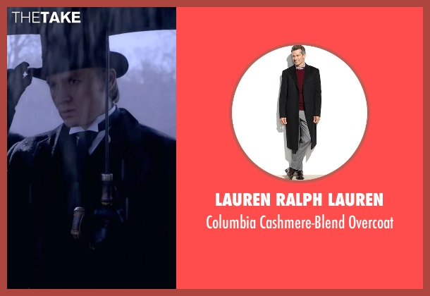 Lauren Ralph Lauren black overcoat from Crimson Peak seen with Charlie Hunnam (Dr. Alan McMichael)