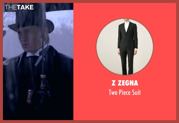 Z Zegna black suit from Crimson Peak seen with Charlie Hunnam (Dr. Alan McMichael)