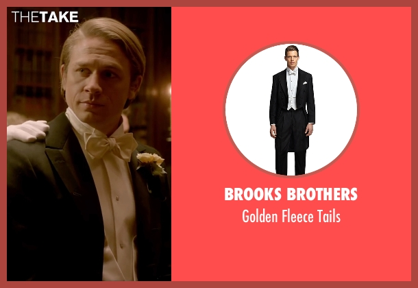 Brooks Brothers black tails from Crimson Peak seen with Charlie Hunnam (Dr. Alan McMichael)
