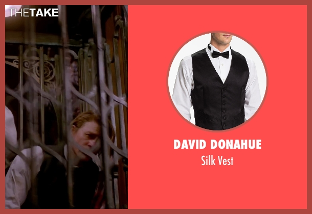 David Donahue black vest from Crimson Peak seen with Charlie Hunnam (Dr. Alan McMichael)