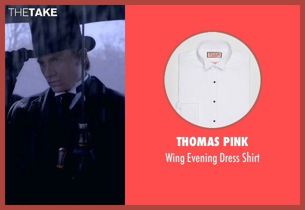 Thomas Pink white shirt from Crimson Peak seen with Charlie Hunnam (Dr. Alan McMichael)