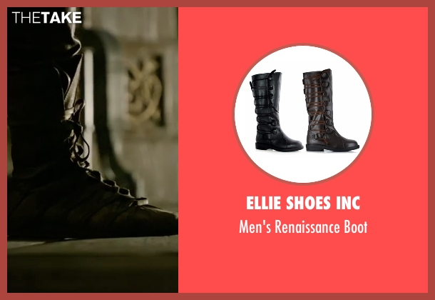 Ellie Shoes Inc brown boot from King Arthur: Legend of the Sword seen with Charlie Hunnam (King Arthur)
