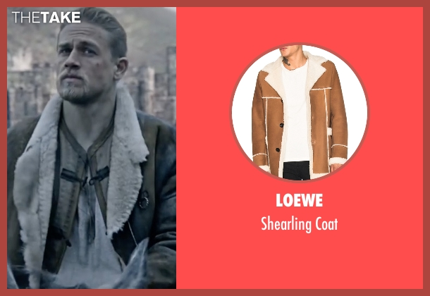 Loewe brown coat from King Arthur: Legend of the Sword seen with Charlie Hunnam (King Arthur)