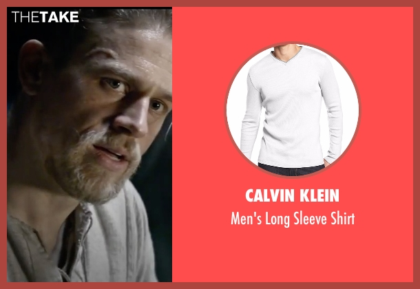 Calvin Klein white shirt from King Arthur: Legend of the Sword seen with Charlie Hunnam (King Arthur)
