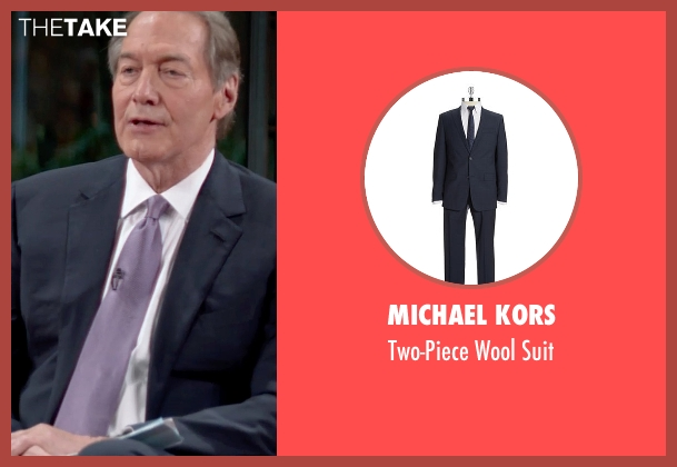 Michael Kors blue suit from Top Five seen with Charlie Rose (Himself)