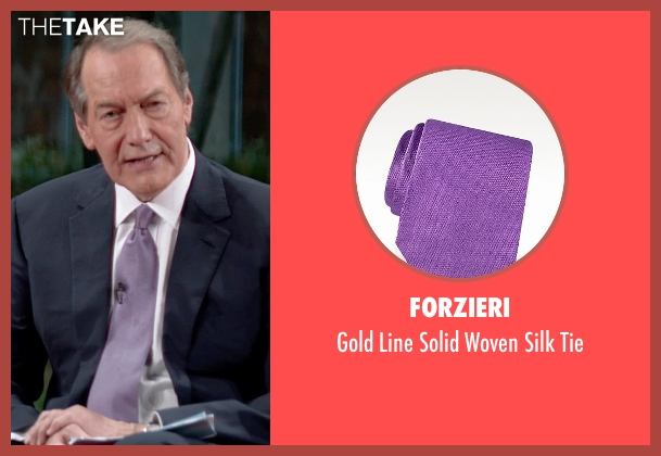 Forzieri purple tie from Top Five seen with Charlie Rose (Himself)
