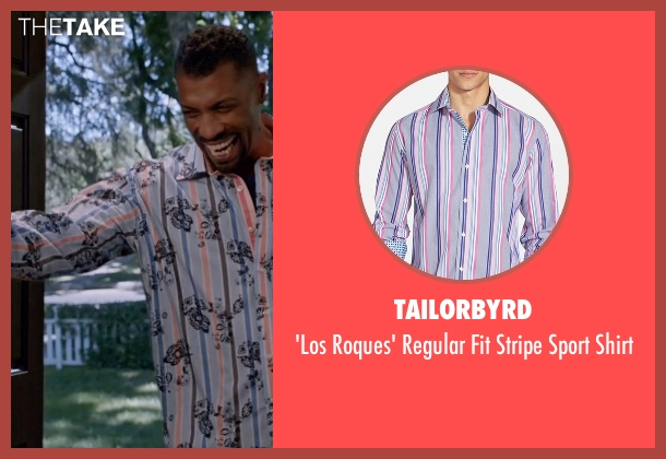 TailorByrd blue shirt from Black-ish seen with Charlie Telphy (Deon Cole)