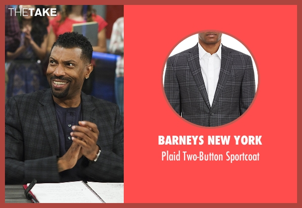 Barneys New York gray sportcoat from Black-ish seen with Charlie Telphy (Deon Cole)