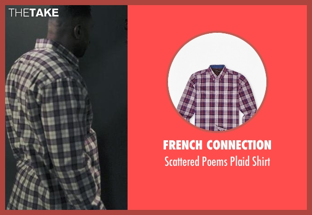 French Connection purple shirt from Black-ish seen with Charlie Telphy (Deon Cole)