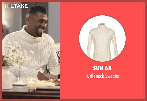 Sun 68 white sweater from Black-ish seen with Charlie Telphy (Deon Cole)