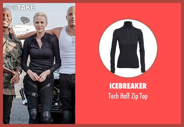 Icebreaker black top from Fast 8 seen with Charlize Theron (Cipher)