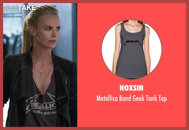 Hoxsin gray top from Fast 8 seen with Charlize Theron (Cipher)
