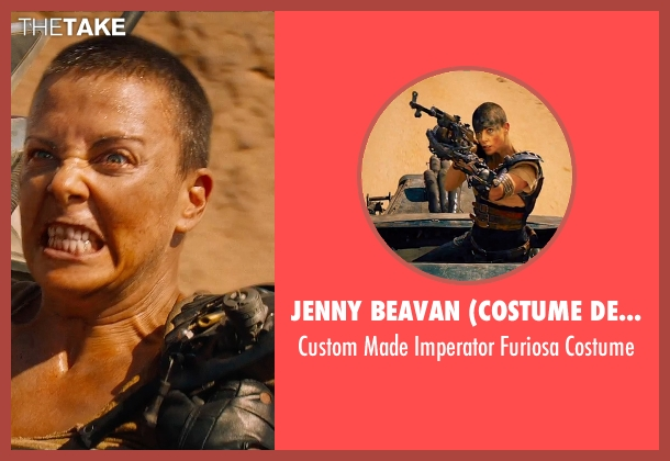 Jenny Beavan (Costume Designer) costume from Mad Max: Fury Road seen with Charlize Theron (Imperator Furiosa)