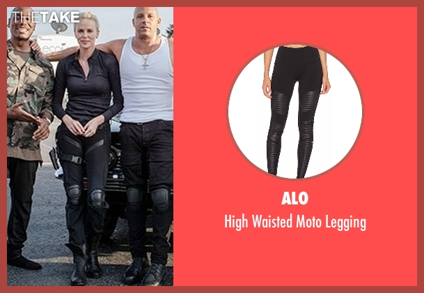 Alo black legging from The Fate of the Furious seen with Charlize Theron (Cipher)