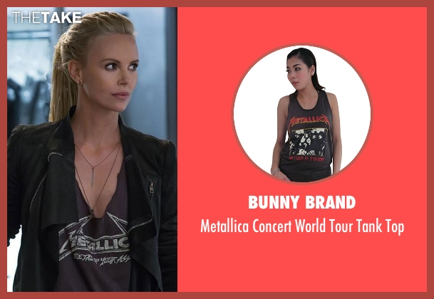 Bunny Brand gray top from The Fate of the Furious seen with Charlize Theron (Cipher)