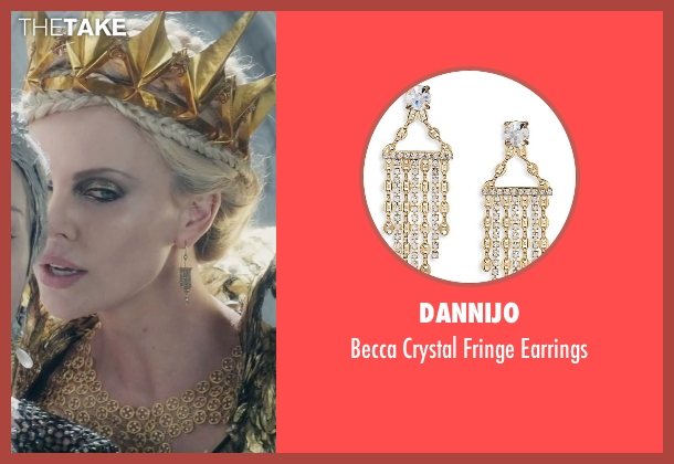 Dannijo gold earrings from The Huntsman: Winter's War seen with Charlize Theron (Ravenna)