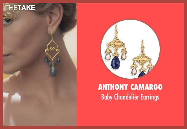 Anthony Camargo gold earrings from The Huntsman: Winter's War seen with Charlize Theron (Ravenna)